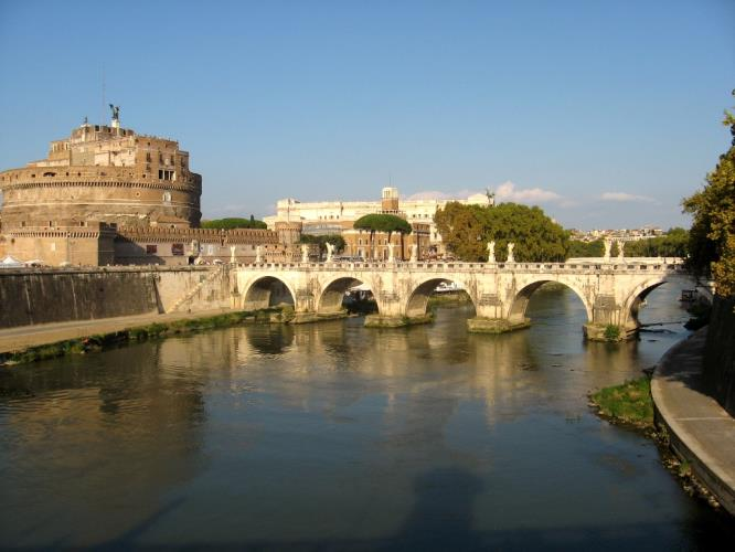 Castel Sant'Angelo a due passi dal BW Hotel Piccadilly Roma.