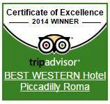 The Hotel Piccadilly has received the certificate of excellence Tripadvisor 2014 thanks to rave reviews received by customers.