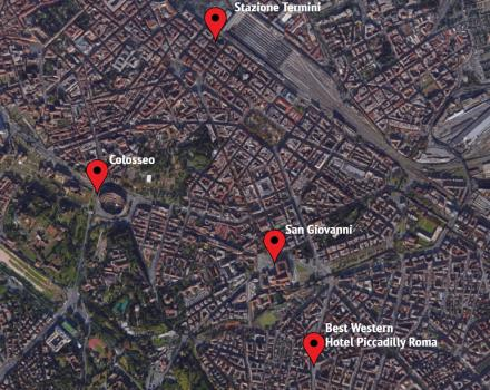 Find out where is the Hotel Piccadilly in Rome!